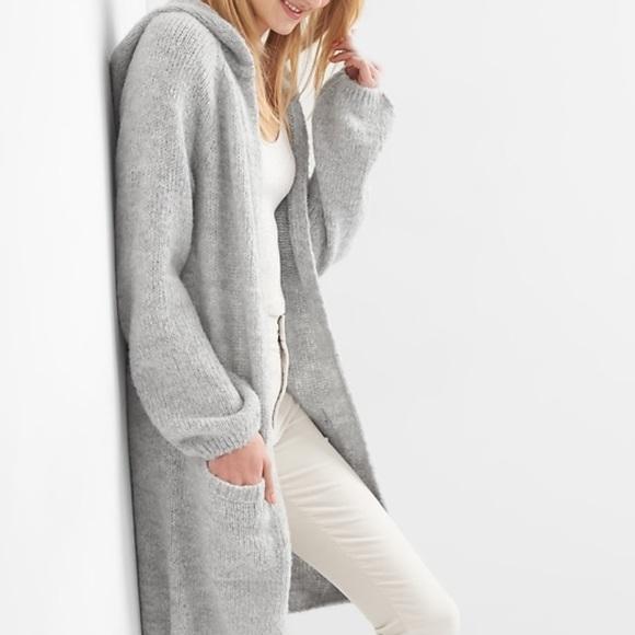 Gap Women Long Hooded Cardigan NWT Msrp$98 NWT
